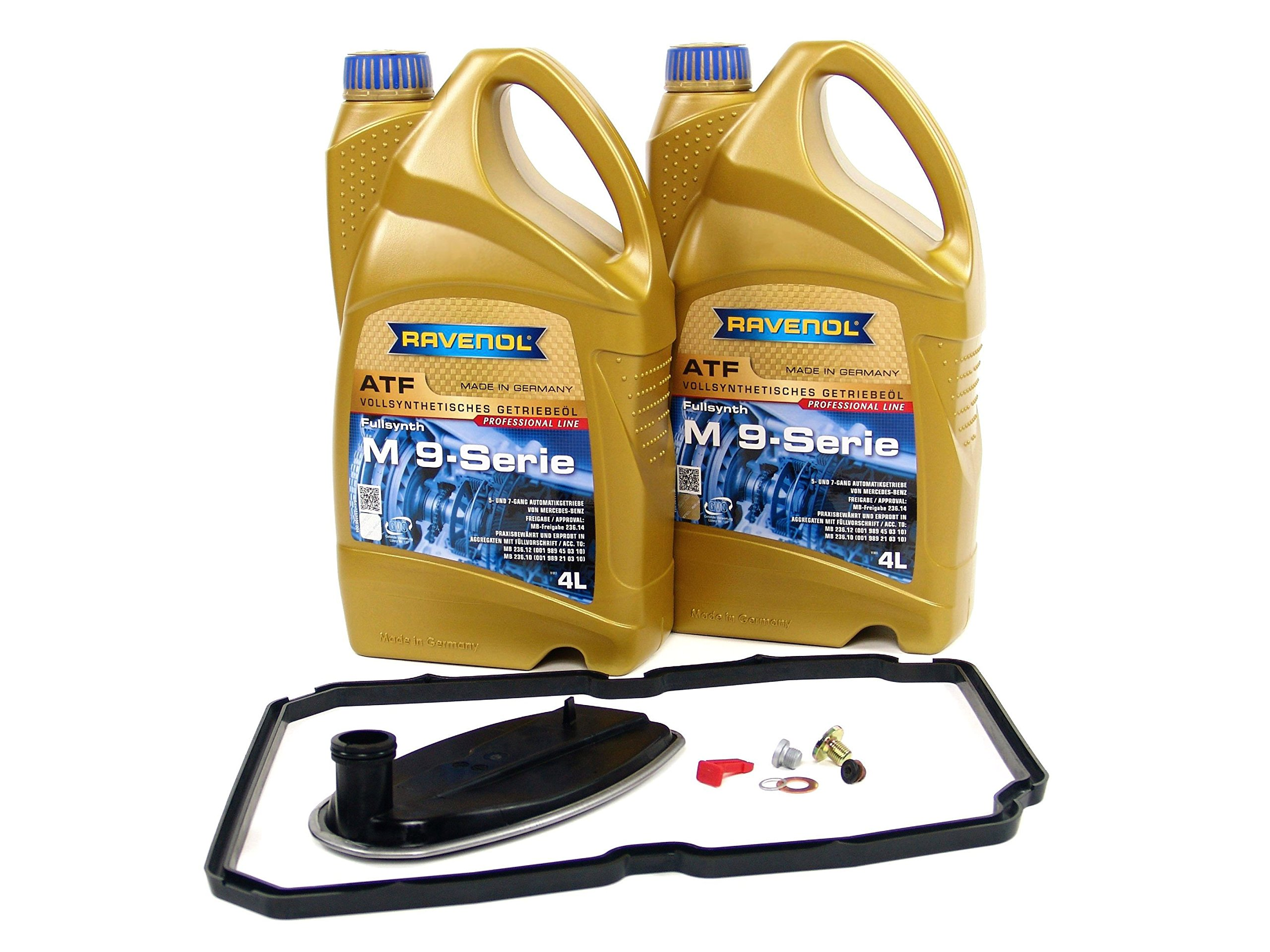 BLAU F2A1541-N Mercedes SLK230, SLK32 AMG, SLK320 ATF Transmission Fluid Filter Change Kit - 1998-04 - 5 Spd MB 236.14 by Blau
