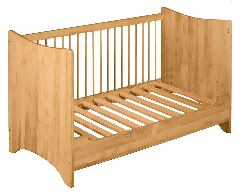 BioKinder Spar-Set Emma Kinderbett Gitterbett Babybett mit Umbau-Bettseite aus Massivholz Erle 70 x 140 cm