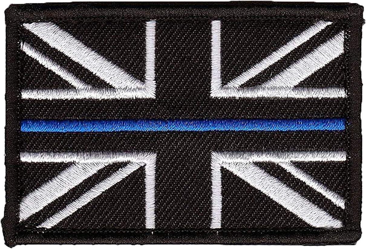 Polamb Productos Fina Azul Línea Police Union Jack Velcro base ...