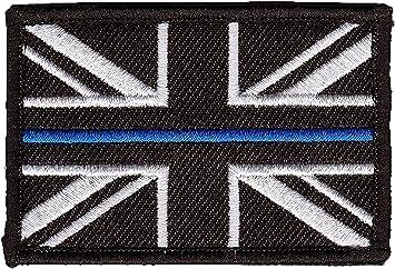 Polamb Productos Fina Azul Línea Police Union Jack Velcro base parche (GB insignia insignia) Pequeño: Amazon.es: Bricolaje y herramientas