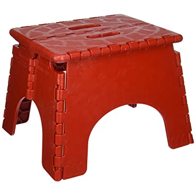 B & R Plastics 1016R E-Z Foldz Red Step Stool: Automotive