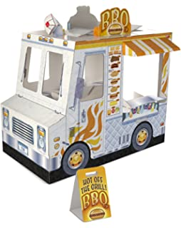 Melissa Doug Food Truck Indoor Corrugate Playhouse Over 4 Feet Long