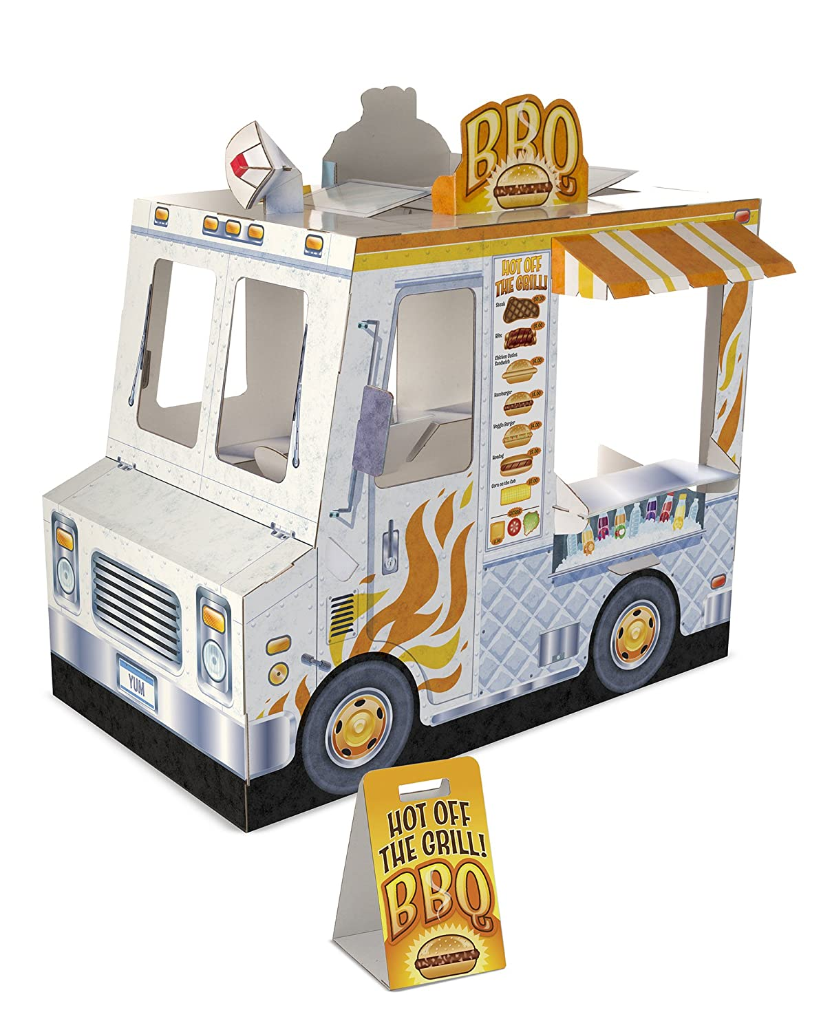 Melissa Doug Food Truck Indoor Playhouse Cardboard