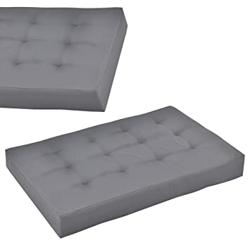 en.casa] 1x Coussin d'assise en gris clair pour intérieur et