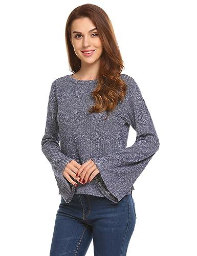 74cffc0d56 Zeagoo Women s Raglan Long Sleeve O Neck Pullover Casual Tunic Sweatshirts  Navy Blue S at Amazon Women s Clothing store