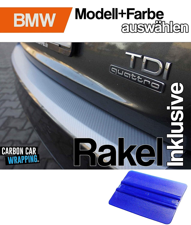 3er E90 Limo Ladekantenschutz Lackschutzfolie von CCW/© mit Profi-Rakel in 3D Carbon Silber