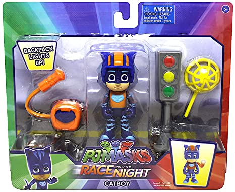 Pj Masks Race into the Night Catboy Action Figure Set 3""