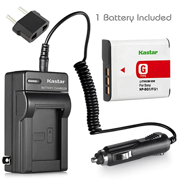 Battery + Charger for Sony DSC H50 H10 H9 H7 H3 NP BG1 + car plug [Camera]