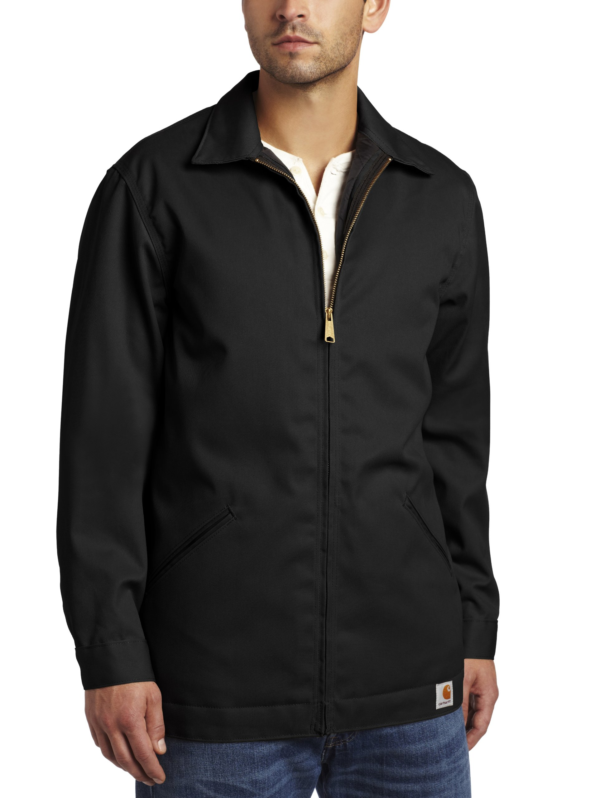 Carhartt Men's Big & Tall Twill Work Jacket,Black,XXXX-Large