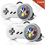 2 Pack Retro SNES Classic USB Controller Gamepad,kiwitatá USB PC Wired Game Controller Joysticks for Windows PC MAC