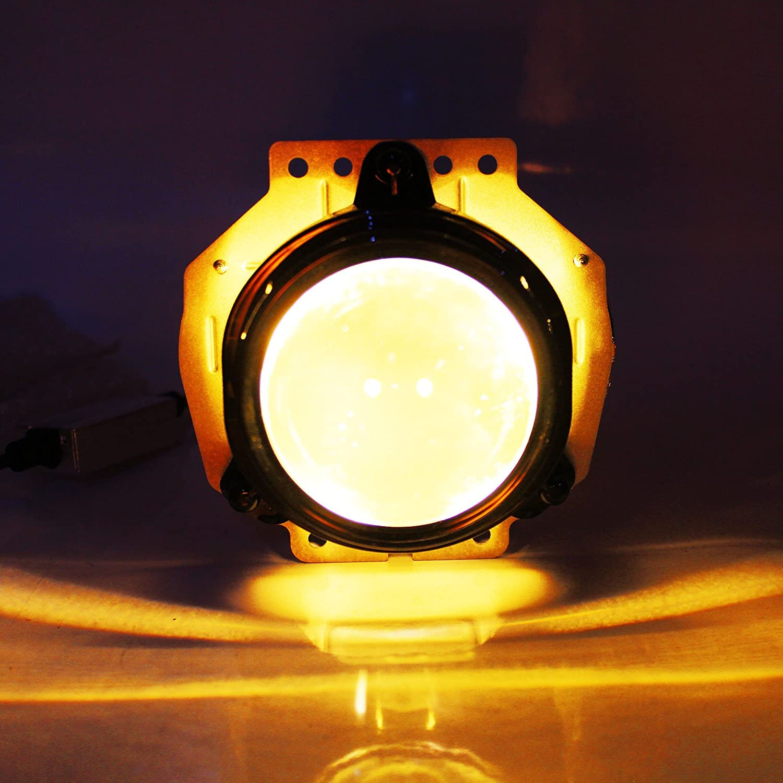 H3 60w 6,400Lm 3K JDM YELLOW AMBER CREE CloudWorks LED Fog Light Headlight Bulbs Kit 5 Yr Warranty