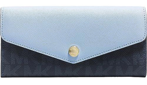 Michael Kors Bolsa de Greenwich Color bolsillo MK Signature PVC y Saffiano cartera de piel: Amazon.es: Ropa y accesorios