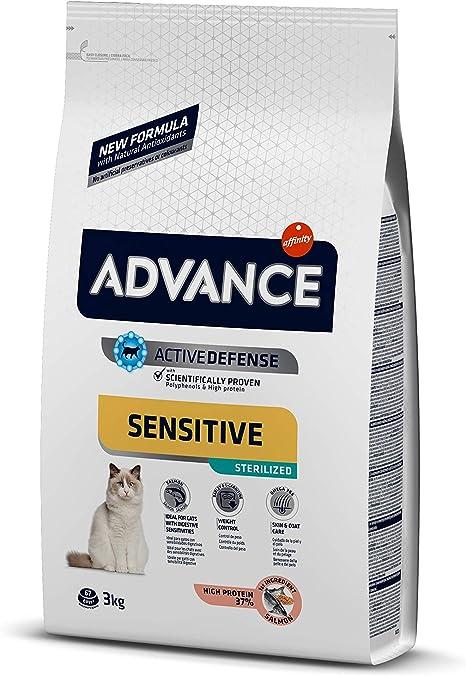 Advance Sensitive Pienso para Gato Esterilizado Adulto con Salmón ...