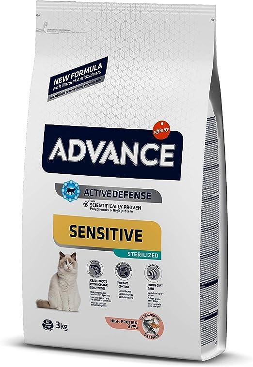 Oferta amazon: Advance Sensitive Pienso para Gato Esterilizado Adulto con Salmón - 3000 gr