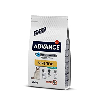 Advance Sensitive Pienso para Gato Esterilizado Adulto con Salmón - 3000 gr: Amazon.es: Productos para mascotas