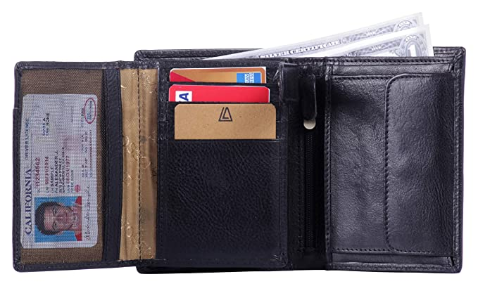 d2aa06e42095 Leather Architect -Men s Real Italian Leather Wallet with 12 Credit Card  Slots and 1 coin