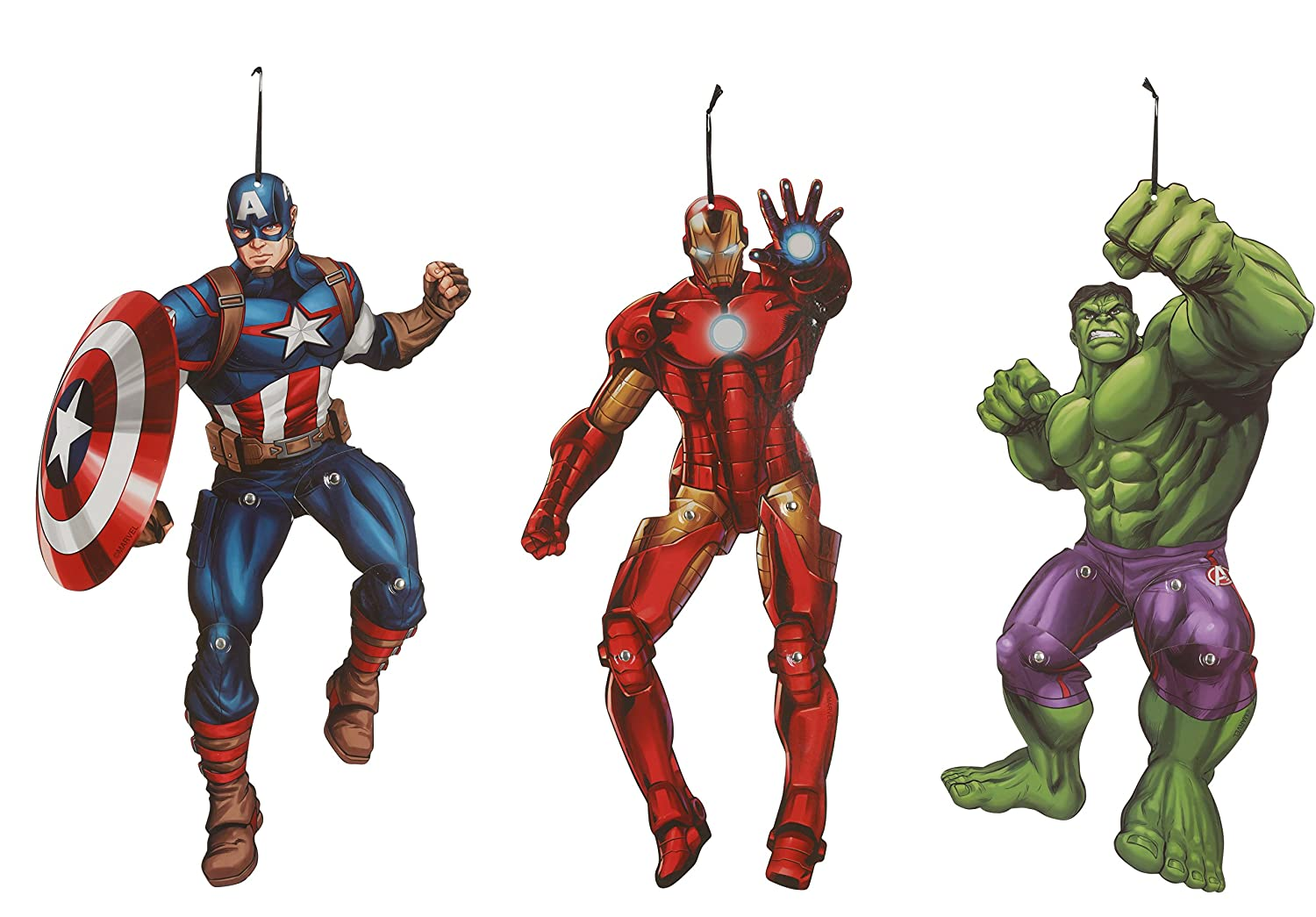 Marvel Avengers Hanging Characters Set Seasons USA Inc. Z50315