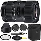 Sigma 18-35mm f/1.8 DC HSM Art Lens for Nikon -Black + Essential Bundle Kit + 1 Year Warranty - International Version (No Warranty)