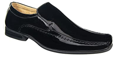 Mens Goor Black Patent Leather Lined Formal Smart Wedding Shoes Sizes 7 8 9 10 11