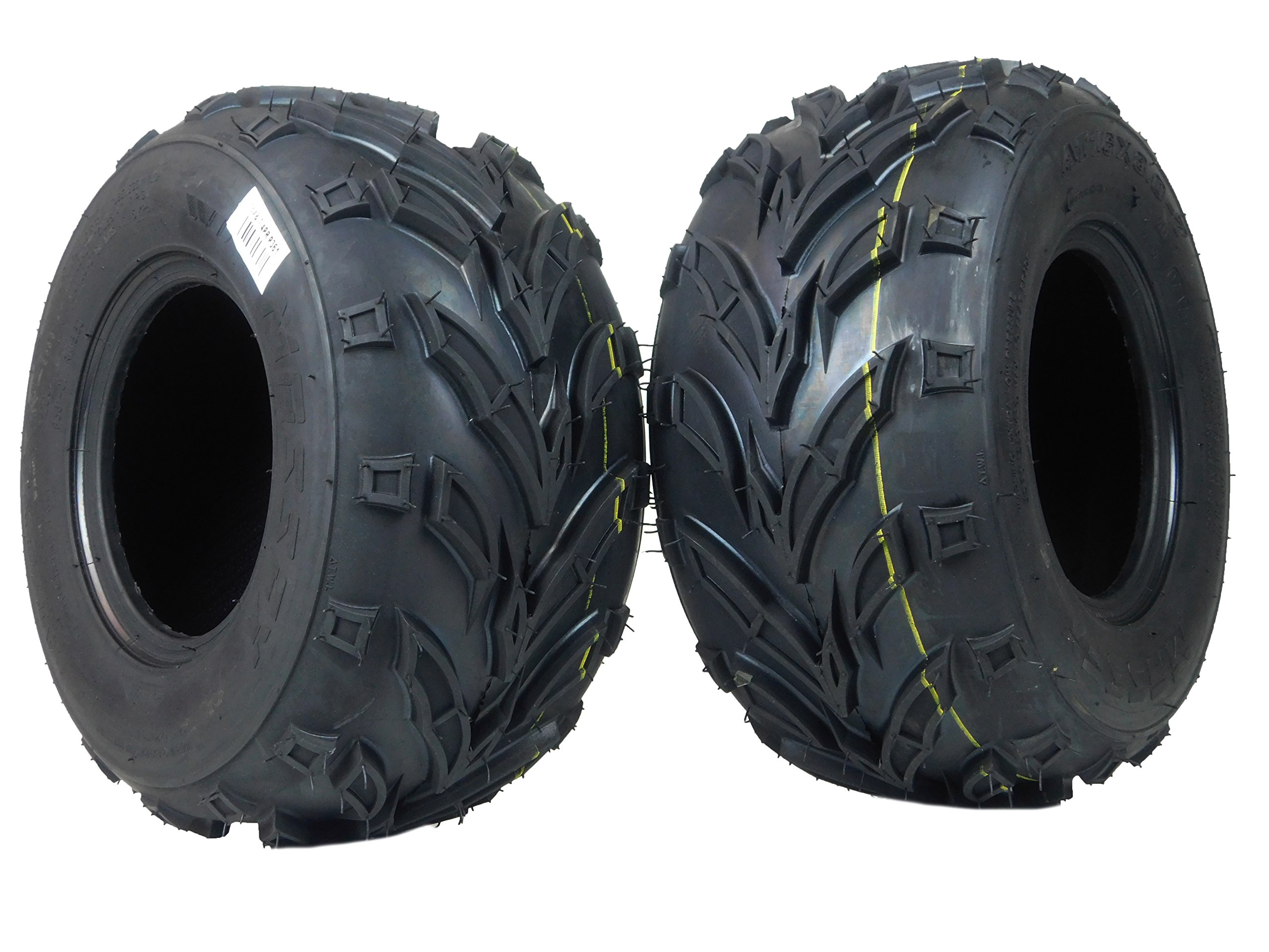 New 2 Pack of 16x8.00-7 MASSFX ATV/ATC Tires Tire 16x8-7 16/8-7 16x8x7