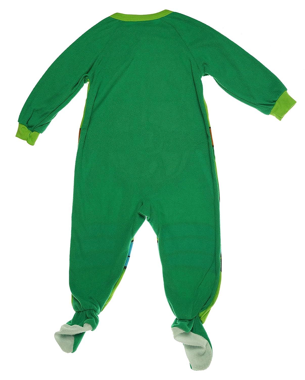 Teenage Mutant Ninja Turtles Toddler Boys One-Piece Footed Pajama (4T)