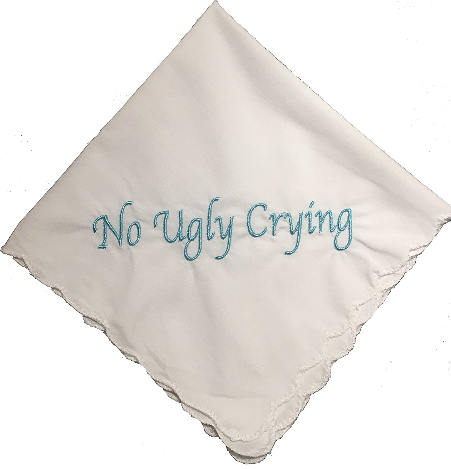 Perfect Bridesmaid Gift No Ugly Crying Wedding Handkerchief Embroidered Set of 8 Wedding Favors(Black) Wedding Tokens
