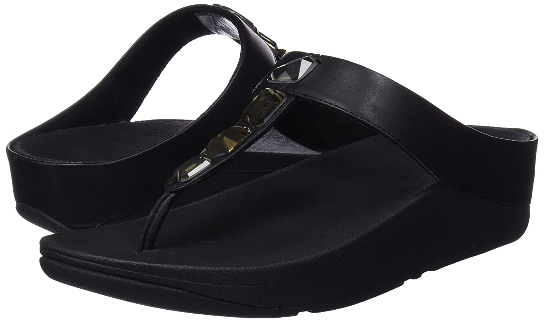 FitFlop Roka Toe Thong - (Black Black Nero (Black - 001) 8c87f3