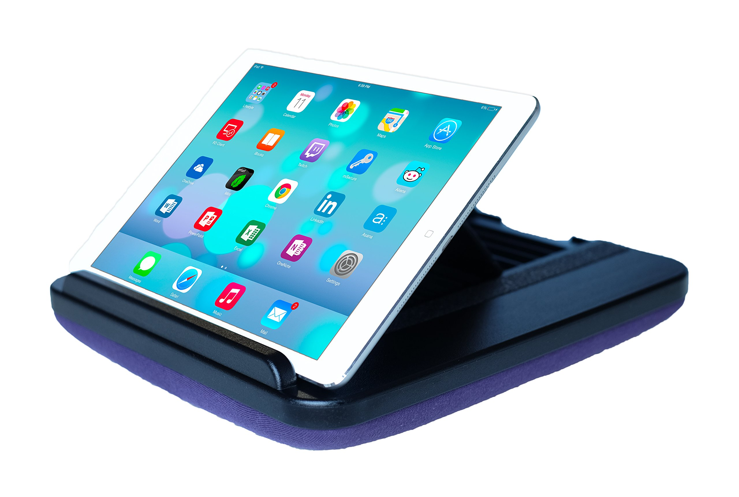 Prop 'n Go Slim - Adjustable Bed Holder & Lap Stand for iPad, iPad Mini, Tablets and eReaders with Multi Angle Control (Purple)