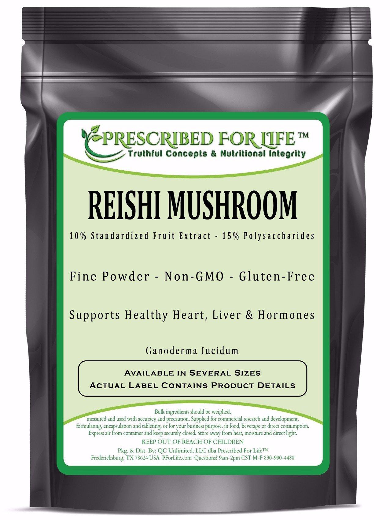 Reishi Mushroom - 15% Polysaccharides - 10% Natural Fruit Powder Extract, 1 kg