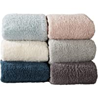 Great Bay Home Ultra Soft, Cozy Sherpa Stretch Knitted Bed Blanket. Lightweight, Elegant, Chic Blanket for Sleeping.