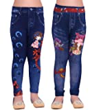 Raiter Ziva Fashion Girls Blue Printed Jeggings (Pack of 2)…