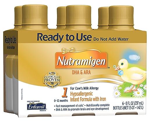 Nutramigen Baby Formula - 8 fl oz Plastic Bottles,  6 Count