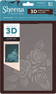 5 x 7-inch Transparent Gemini GEM-EF5-3D-CR Christmas Rose 3D Embossing Folder