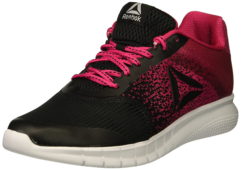 Reebok Women's Instalite Run Track Shoe B073X9J8K5 9 B(M) US|Black/Overtly Pink/White