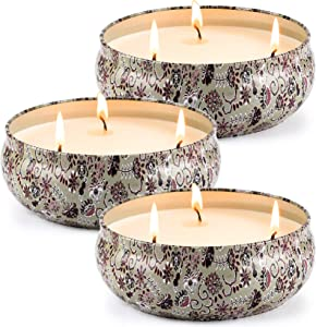 Tobeape Citronella Candles, 3 x 80hrs Long Lasting 3 Wicks Scented Candles, Large 14.5 oz Decorative Indoor & Outdoor Candles for Home Patio Garden Camping Balcony BBQ