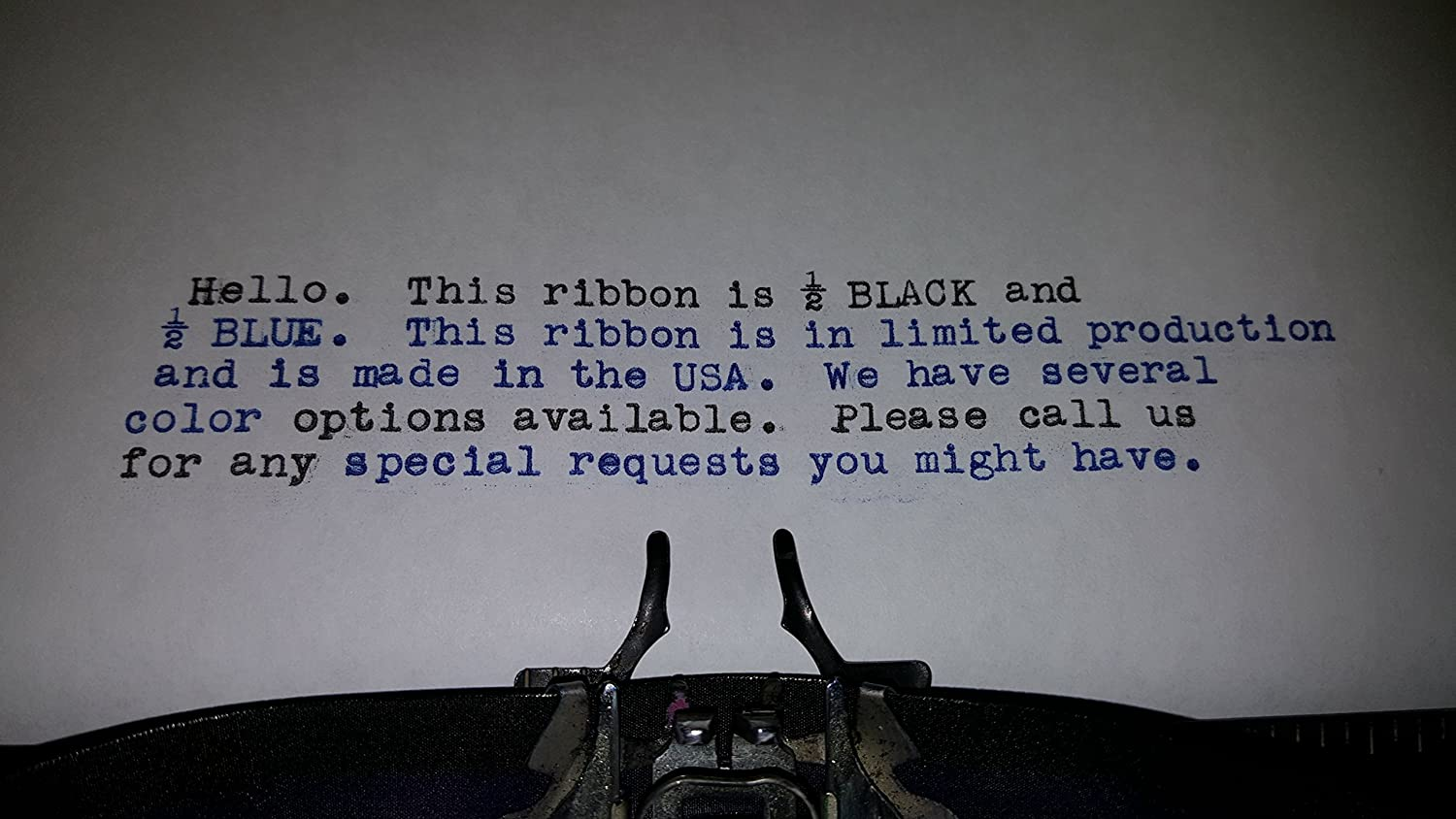 Black and Blue Typewriter Ribbon for We R Memory Keepers Typecast Typewriter FJAProducts