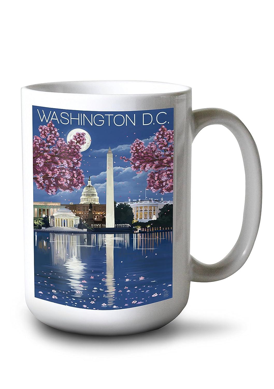正規品! ワシントンDC – ワシントンDC ナイトシーン 4 Coaster Mug Set LANT-43875-CT B077RRFRJ6 15oz Set Mug 15oz Mug, GOODSMAN あんしんプラス:bd9c9c98 --- mcrisartesanato.com.br