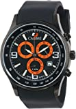 Calibre Men's SC-4M1-13-007 Mauler Black Ion-Plated Coated Stainless Steel Chronograph Tachymeter Day Date Watch