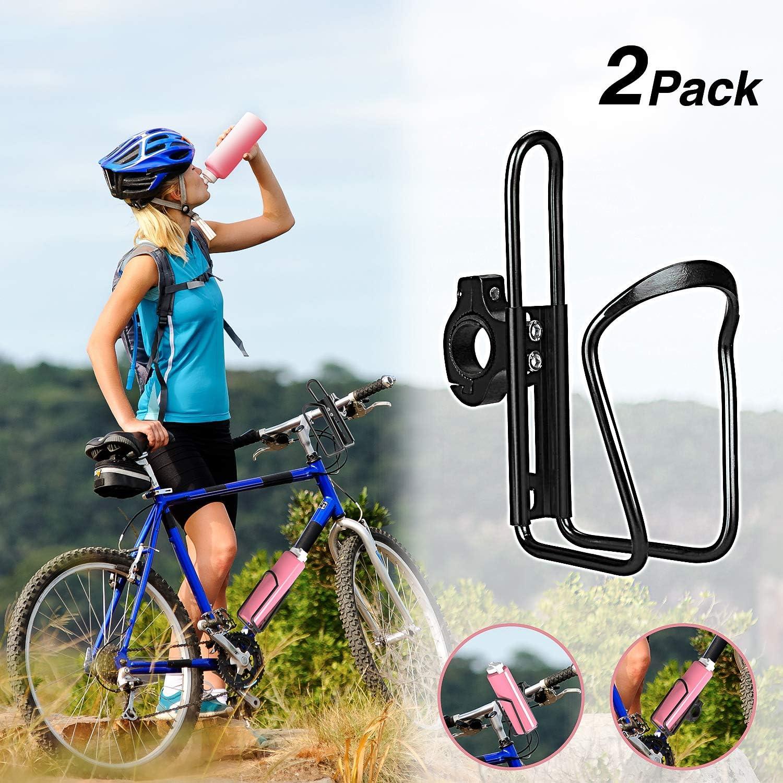Yofidra Bike Water Bottle Holder - 2 Pack Lightweight & Adjustable Aluminum Alloy Water Bottle Cages for Outdoor Activities
