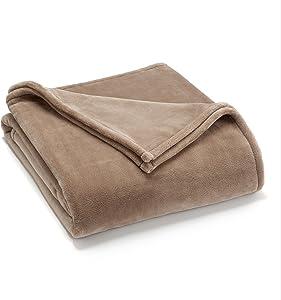 Vellux Sheared Mink King Blanket, Khaki