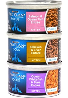 Purina Pro Plan Focus Canned Cat / Kitten Food Variety Pack Box - 3 Flavors,
