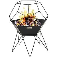 Barbecook Jura Feuerkorb schwarz XXL Stahl Fire Basket ✔ rund