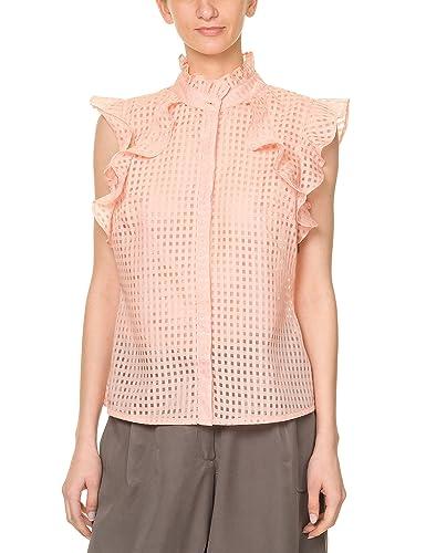 Glamorous Women's Women's Sleeveless Shirt In Light Blue 100% Polyester