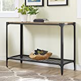 Angle Iron Rustic Wood Sofa Entry Table , Barnwood