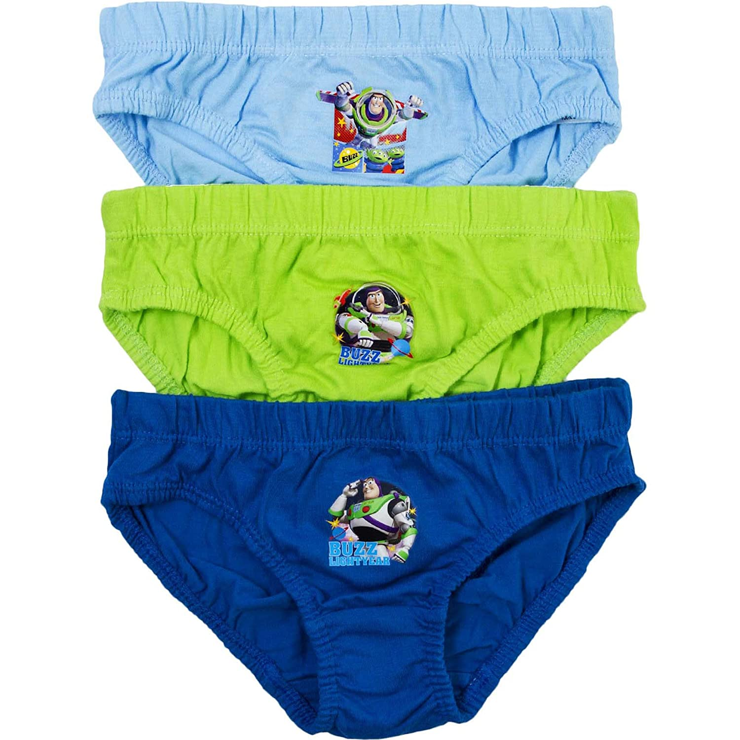 Buzz Lightyear Boy's Disney Toy Story Hipster Briefs Pants Set (3 Pair Pack)