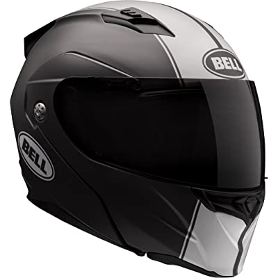 Bell Revolver Evo Modular Motorcycle Helmet (Rally Matte Black/White, X-Small): Automotive