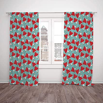 Amazon.com: iPrint 2 Panel Set Satin Window Drapes Kitchen ...