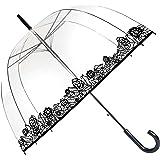 Parapluie Liseret Floral - Femme - Dome transparent - Ouverture automatique (Dentelle)