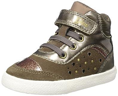 Geox Baby Mädchen B Kiwi Girl A Sneaker, Braun (Smoke Grey), 21 EU
