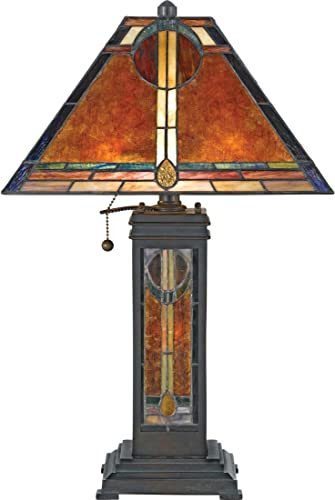 Quoizel TFMK9471VA Maybeck Tiffany Floor Lamp Lighting, 1-Light, 150 Watt, Valiant Bronze 71 H x 16 W